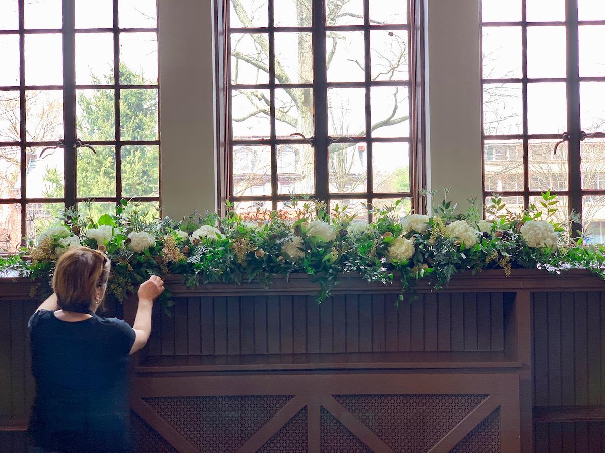 Windowsill Floral Arrangement