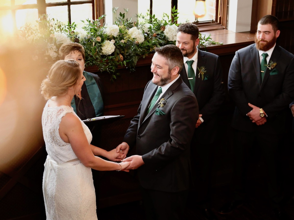 Bride and Groom Take Vows