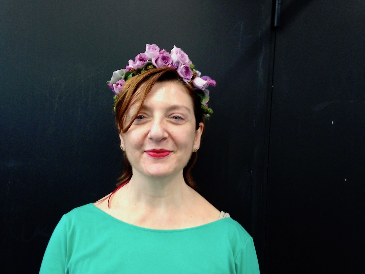 Flower Crown with Spray Roses
