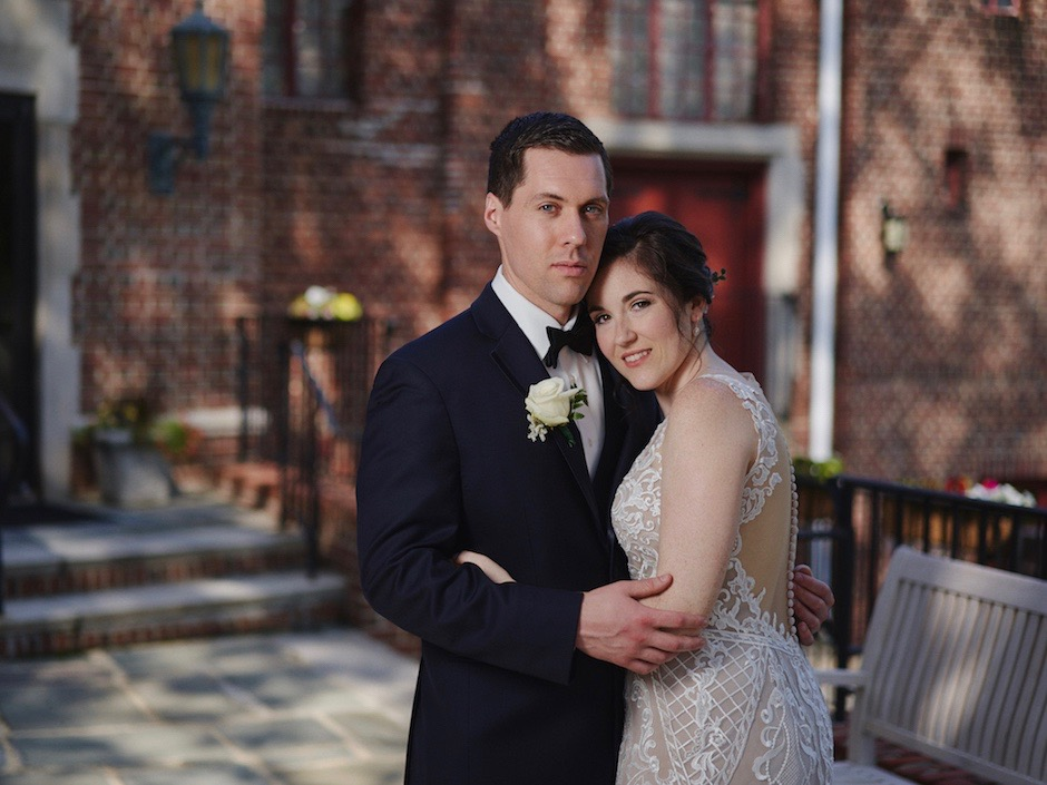 Newlyweds at Moorestown Community House