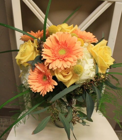 Gerbera Daisy/ Rose Bouquet
