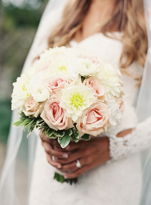 Dahlias and Roses Bridal Bouquet