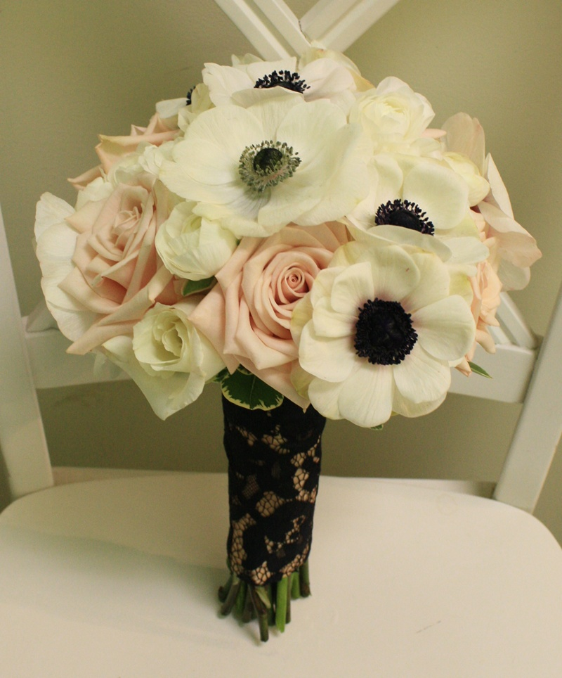 Anenome and Rose Bouquet