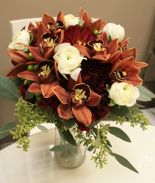 Fall Colored Bridal Bouquet