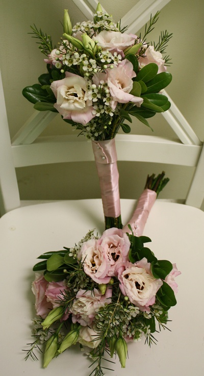 Blush and White Bridesmaid Bouquet