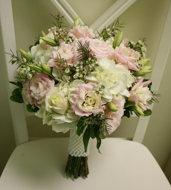 Hydrangea With Lisianthus Bridal Bouquet