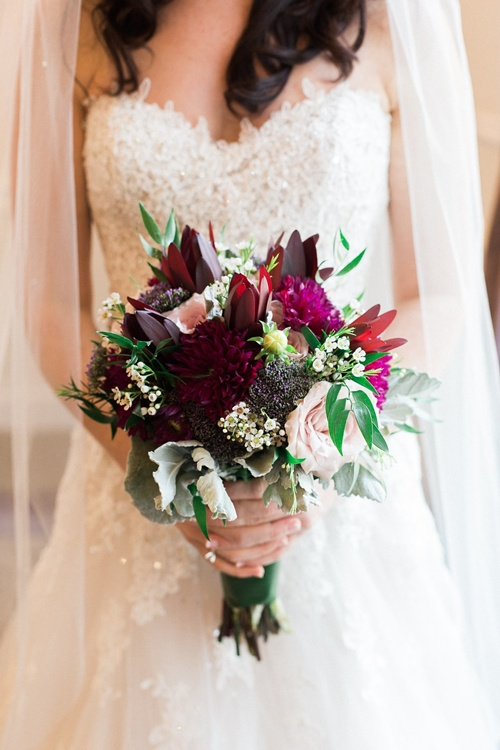 Rich Jewel Tone Bouquet
