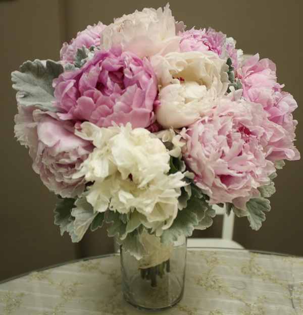 Mixed Colored Peony Bouquet